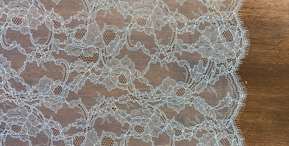 Leah Super Fine Ivory French Chantilly Lace Piece...