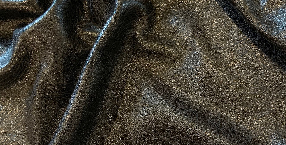 Black Aged Leather Look Sueded Polyester....