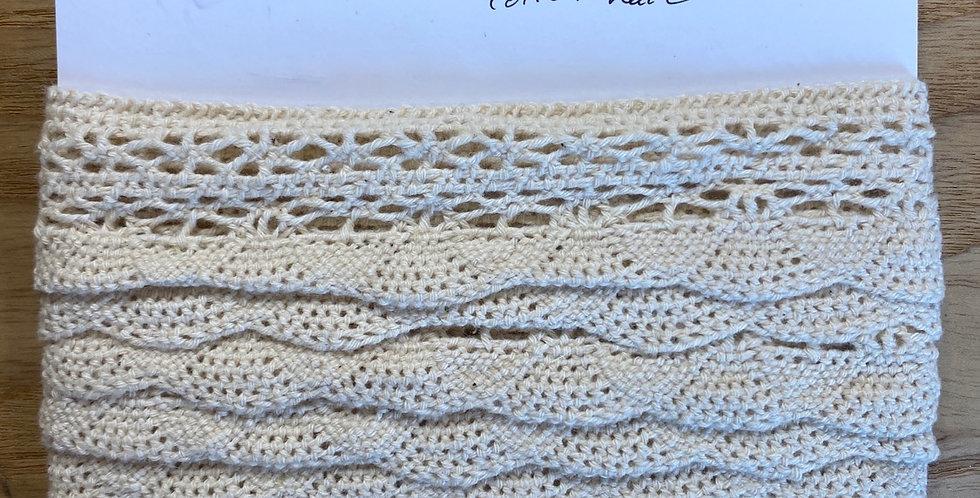 cream cotton crochet remnant
