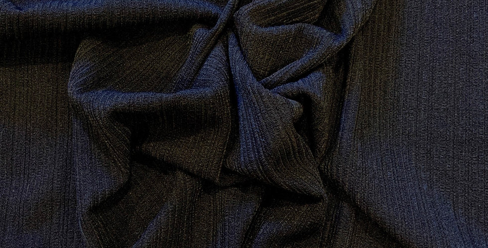 Navy Rib Textured Knot Remnant