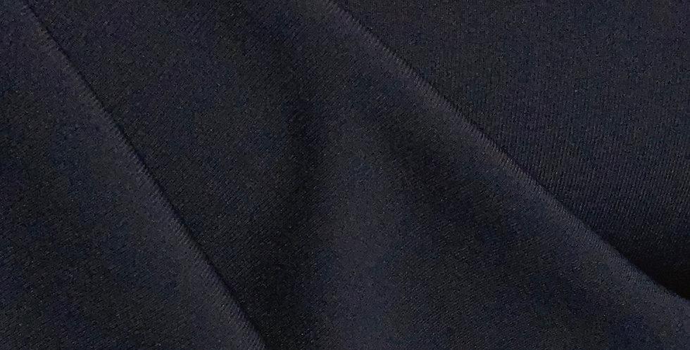 Navy Fine Rib Double knit Polyester Jersey...