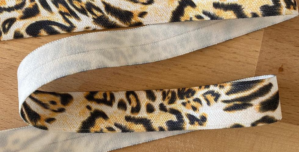 Leopard print fold over elastic