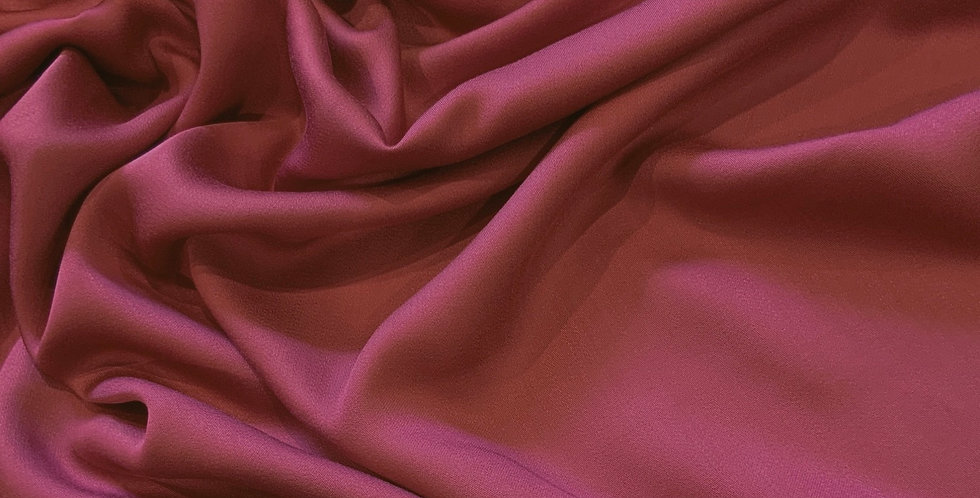 Faded Mulberry Viscose sateen remnant