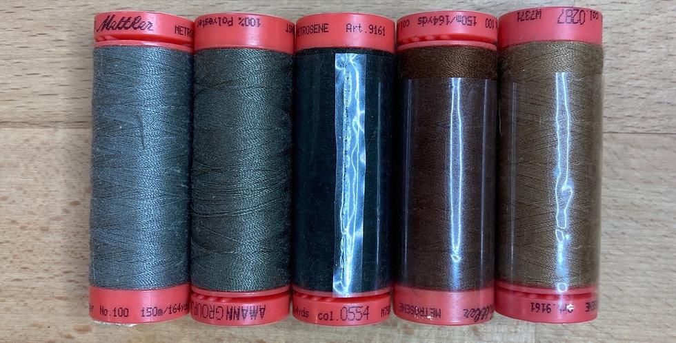 Metrosene Mixed Khaki Thread Pack #3
