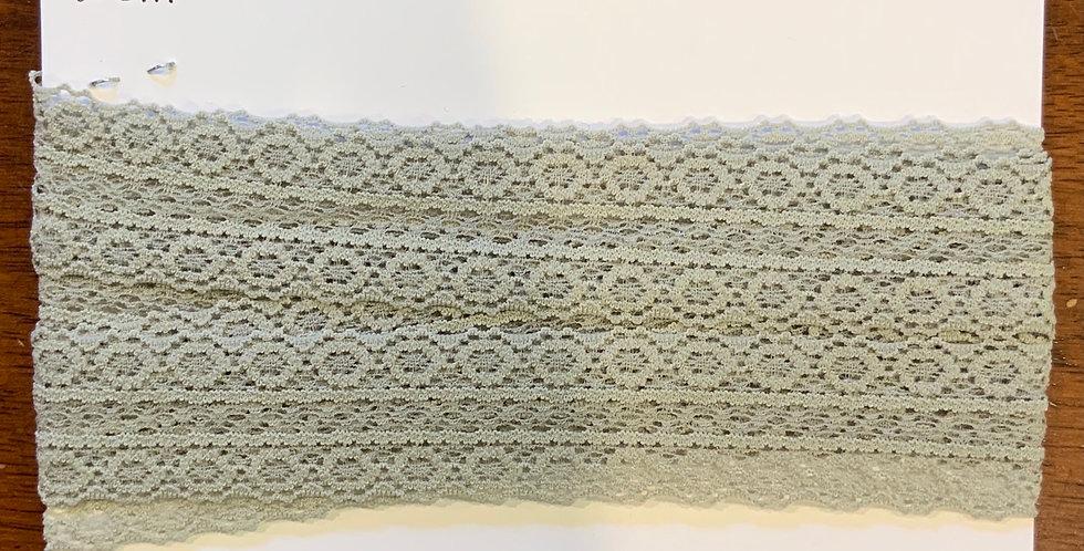 Soft Sage Stretch Lace 2.6mtr piece...