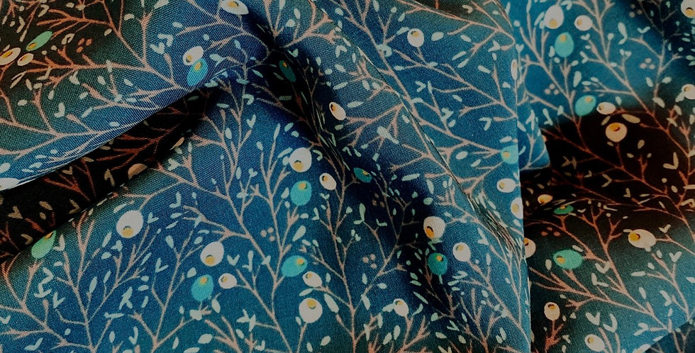 Art Gallery Fabrics Winterberry Pine Oeko-Tex Rayon remnant...