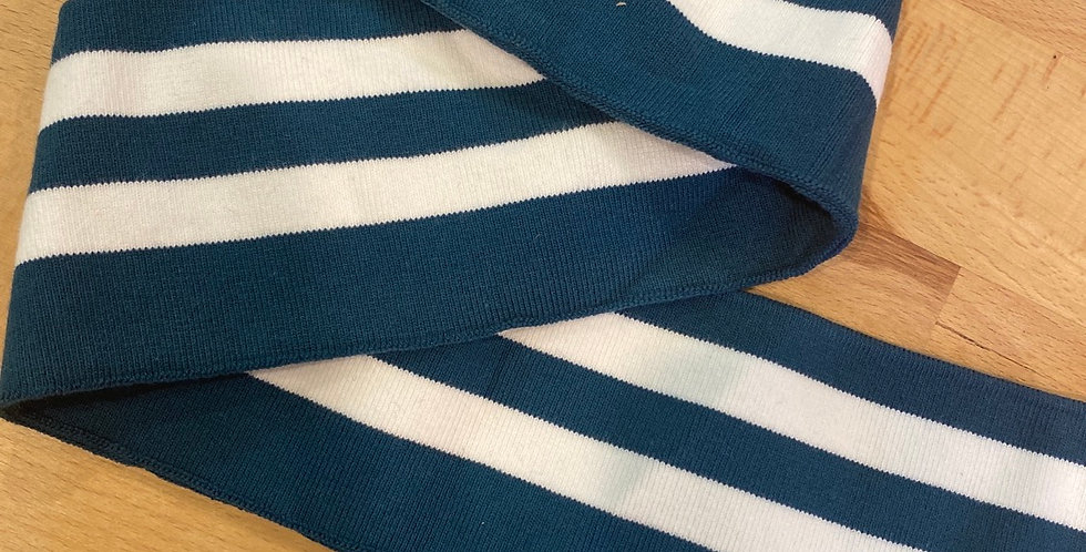 deep teal stripe ribbing band 7.5cm