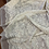Thumbnail: Cream Leaves Wool Embroidered Mesh...