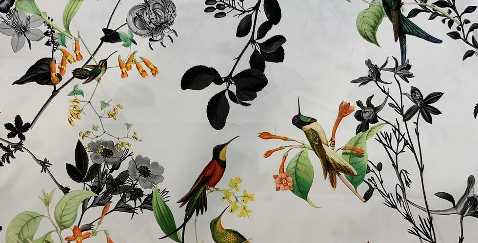 Bird in Paradise Stretch Cotton Sateen