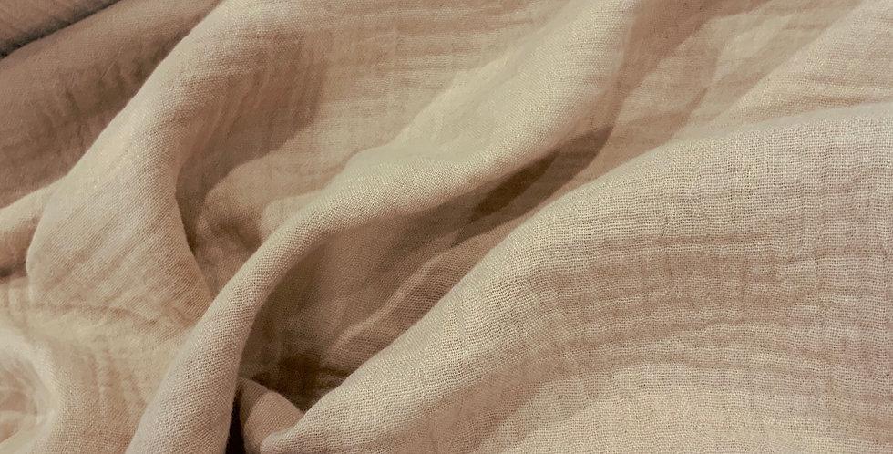 Latte Organic Cotton Double Gauze
