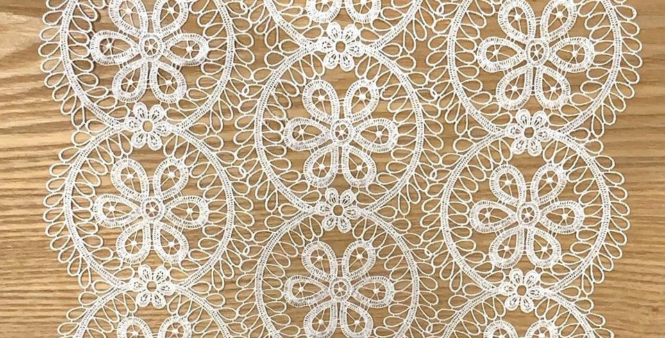 Oslo Fine White Guipure Lace