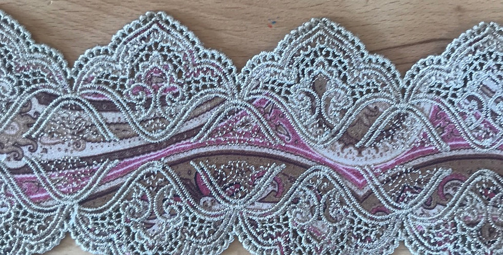 1.8 metres embroidered Marrakech Lycra trim