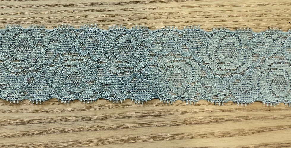 Teal Hand Dyed Stretch Lace...
