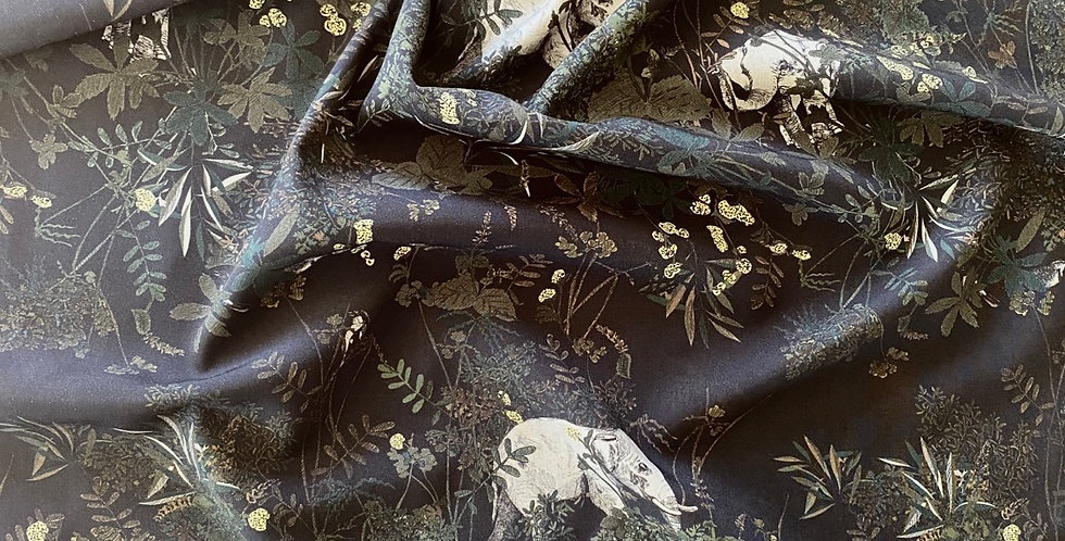Lady McElroy elephant habitat viscose spandex shirting