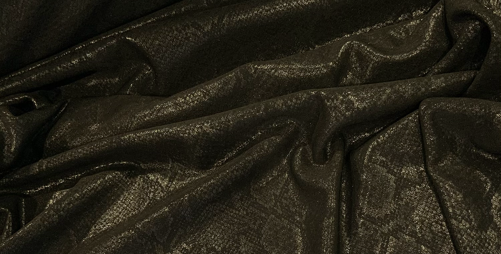 Black Reptile Bonded Polyester Jersey..