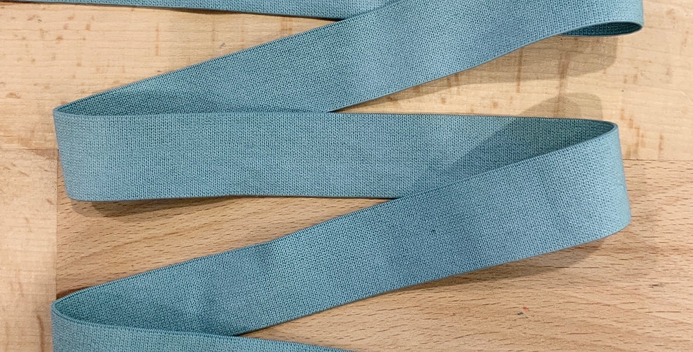 Duck Egg 20mm Hand Dyed Soft Matte Strapping Elastic