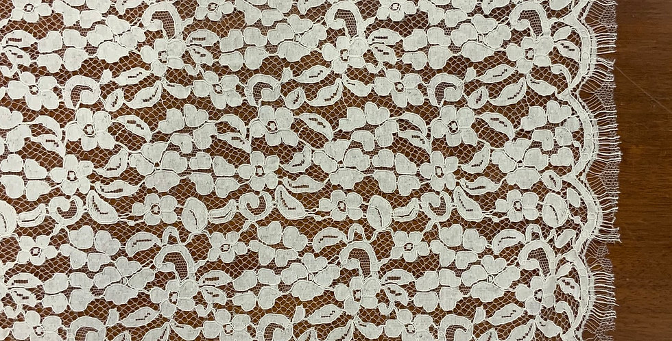 Cleo Ivory Rayon Corded Chantilly Lace Panel...