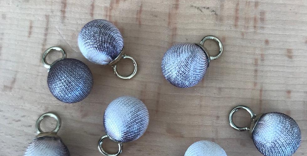 Fabric covered ball charms Sahara