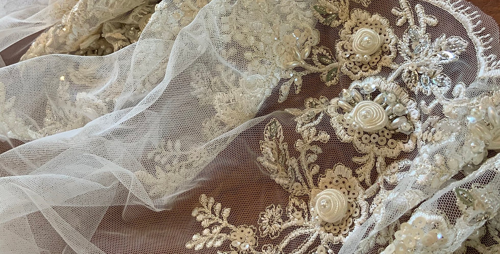 April Beaded Tulle Trim...