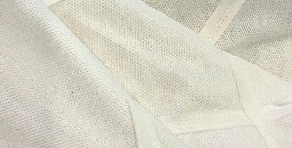 Monterey White Textured Cotton....