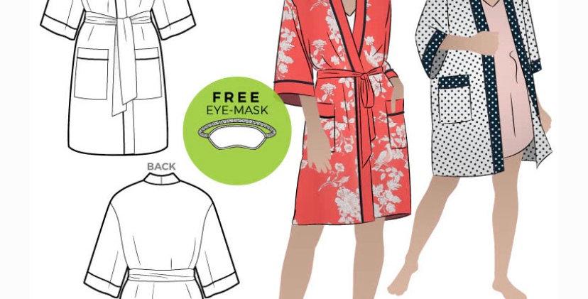 Style arc loungewear robe printed pattern