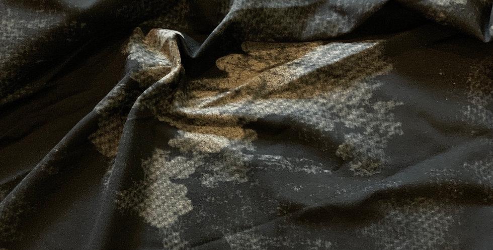 Storm Clouds Brushed Reverse Ponte Knit Remnant