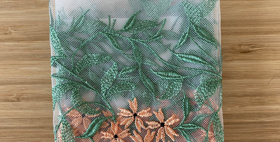 embroidered mesh remnant
