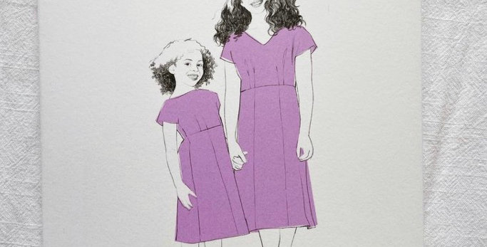 by hand london little anna dress printed pattern