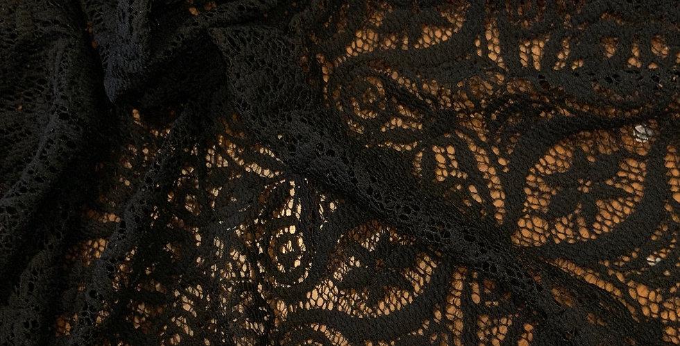 Helen Black Stretch Lace...