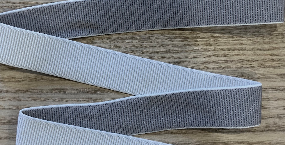 Grey and white reversible elastic