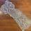 Thumbnail: Seafoam Hand Dyed Beaded Lace Off Cut #4044