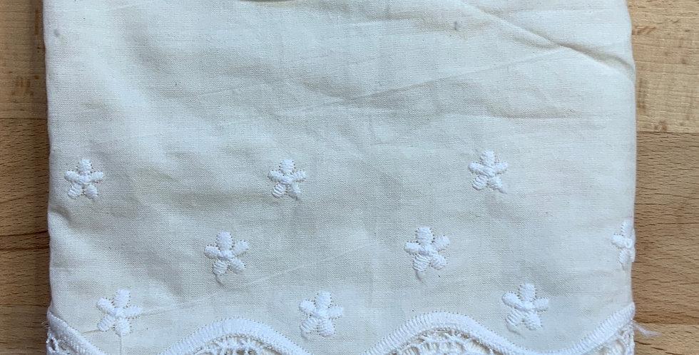Ivory Designer Embroidered Cotton Trim