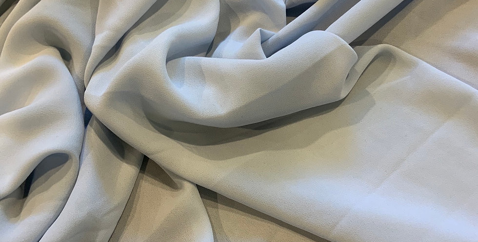 Dusty Blue Polyester Crepe Georgette Remnant