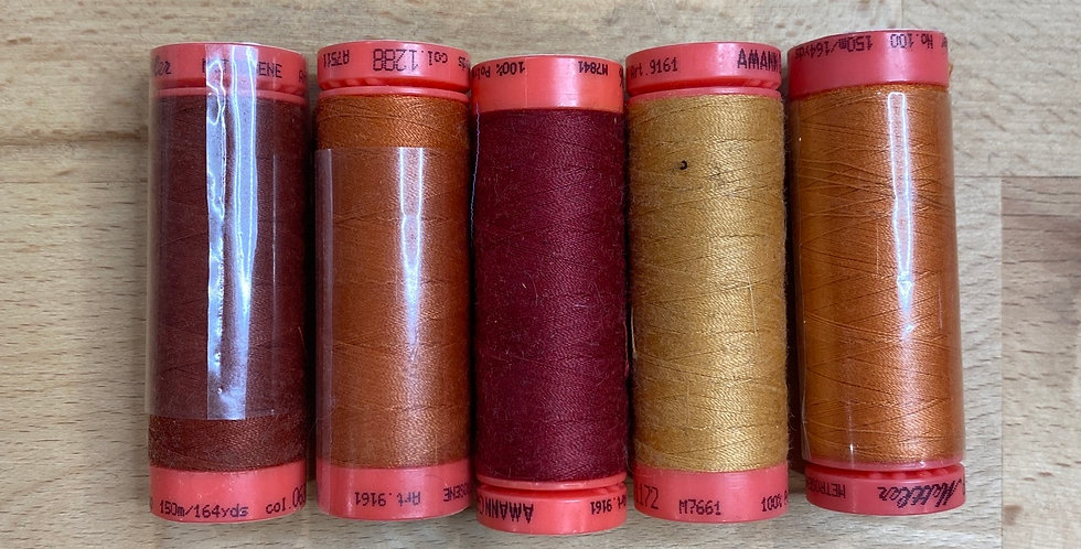 Metrosene Mixed Rust Thread Pack #1