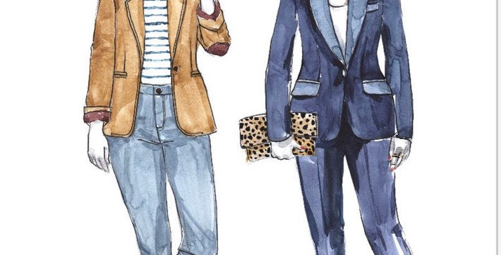 closet core jasika blazer printed pattern