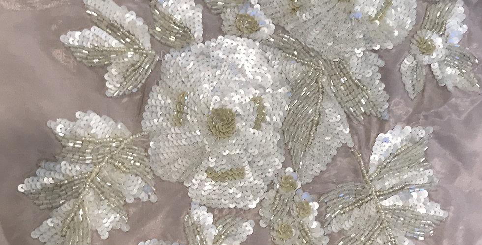 Mocha fleur motif large