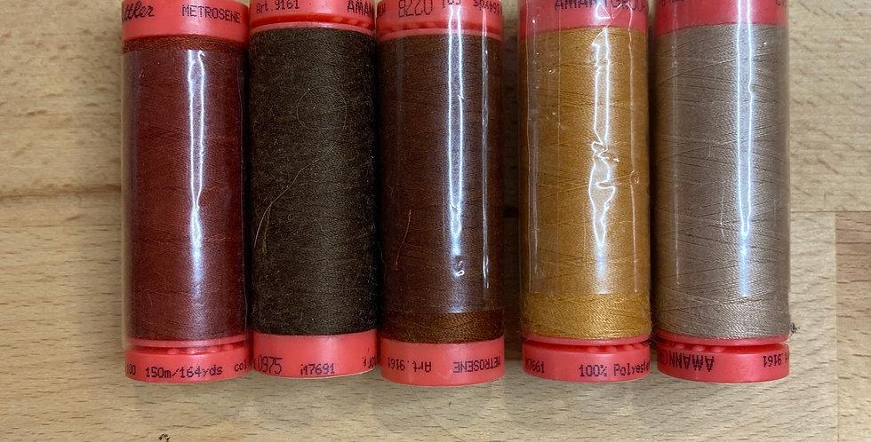 Metrosene Mixed Browns Thread Pack #7