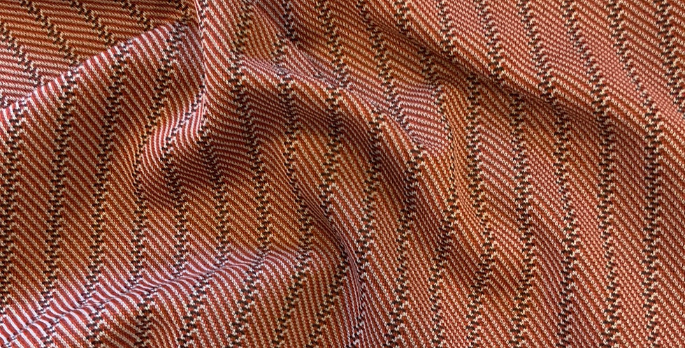 Vintage 1970's Red Herringbone Crimplene Remnant