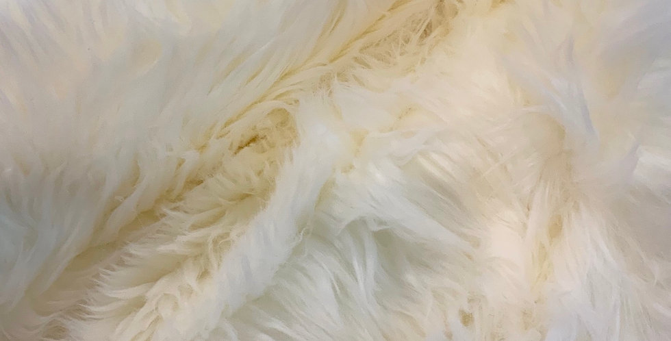 Ivory High Pile Fur Piece....