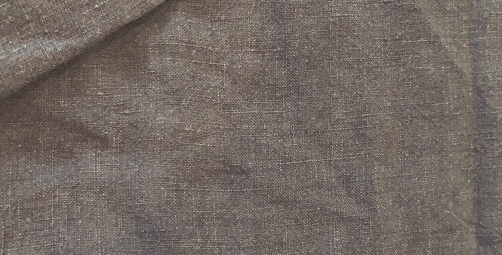 Dark Taupe Sandwashed Linen Cotton Remnant...