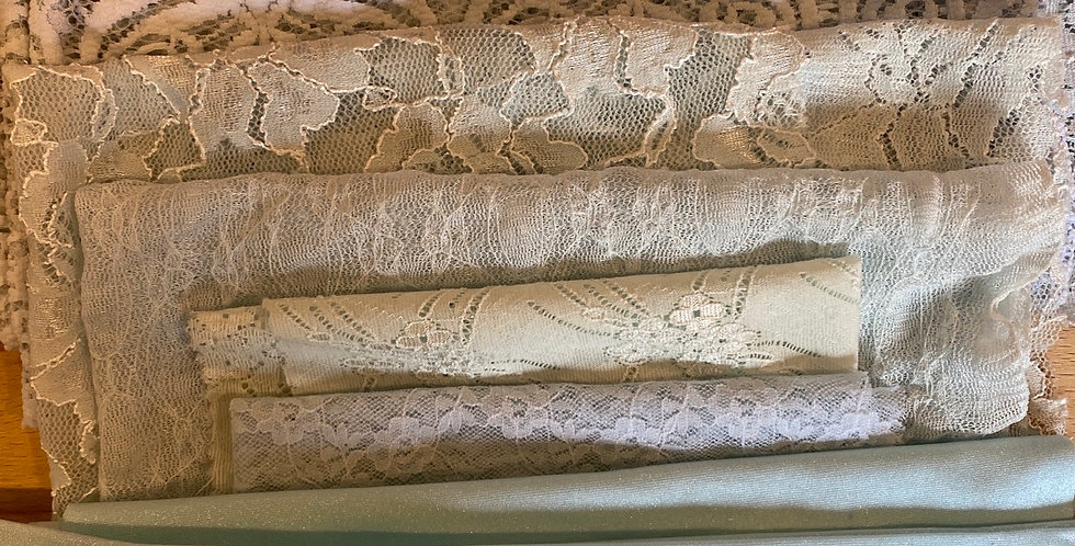 sea foam lingerie fabric off cuts pack