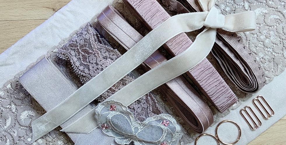 Dusty Pink Mocha Bow Lingerie Kit...