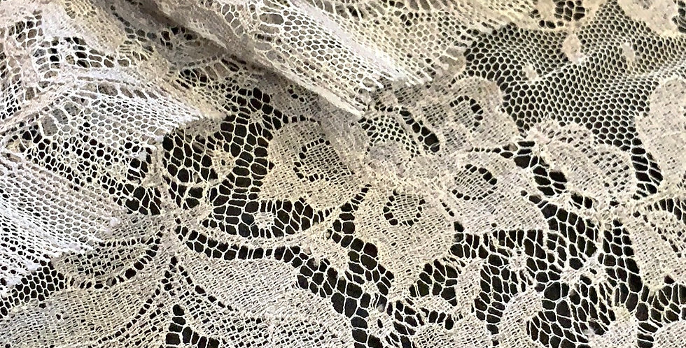 Grey French Chantilly Lace