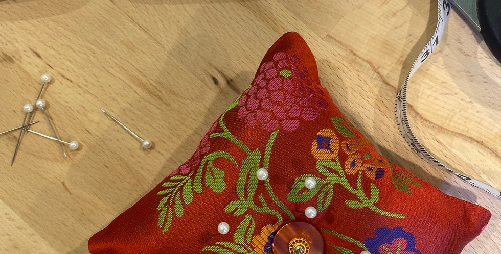 Orient hand crafted pin cushion