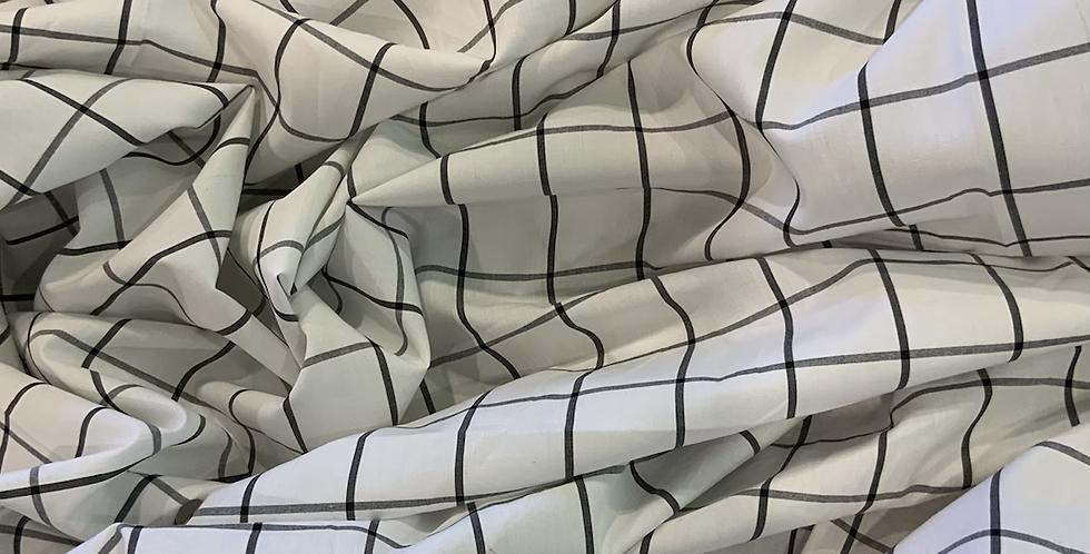 Paris Grid Cotton Shirting