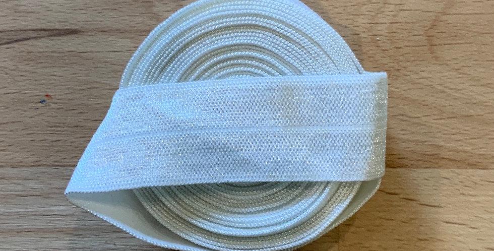 White 2.8mtr roll Foldover Elastic