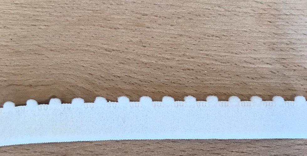 White Pom Pom Edge Elastic...