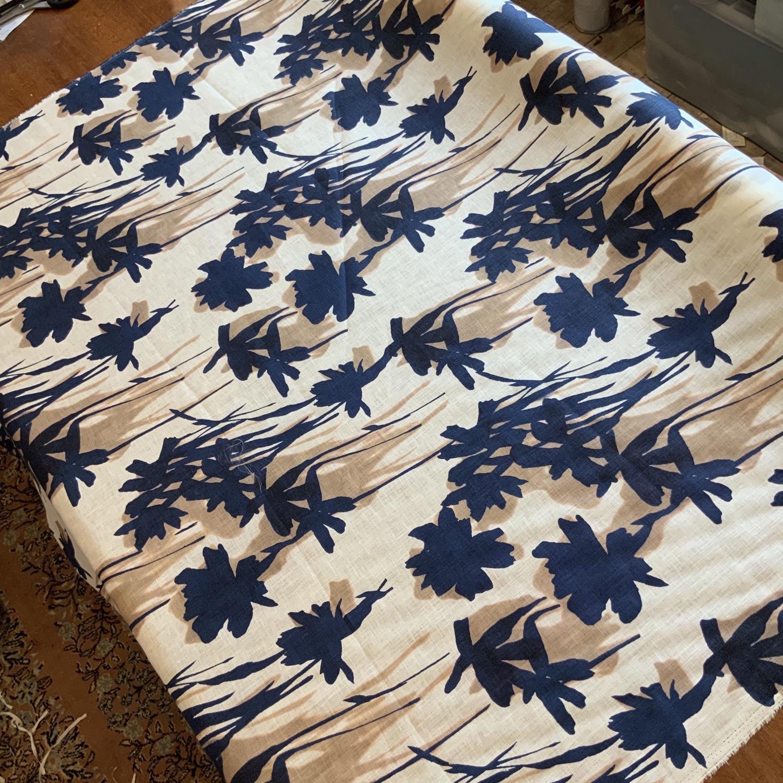 Thumbnail: Navy Blooms Linen...