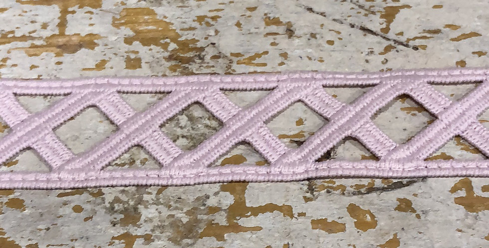 Rapunzel full embroidery trim dusty pink