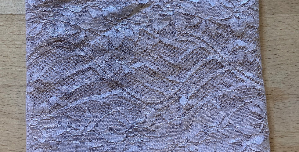 Pale Dusty Pink Lace Remnant